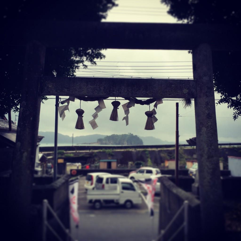 古座神社、九龍島