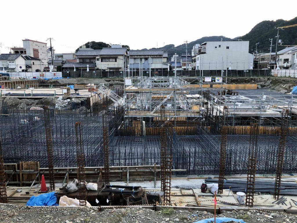 新宮市文化複合施設建設工事中